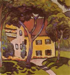 August Macke - Staudacher-s House at Tegernsee