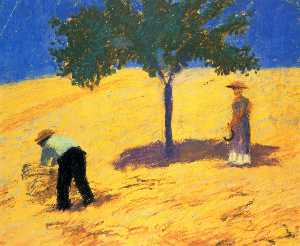 August Macke - Tree in the cornfield