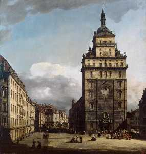 Bernardo Bellotto - The Kreuzkirche in Dresde..