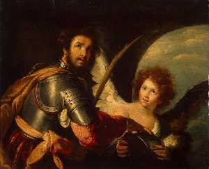 Bernardo Strozzi - St Maurice and the Angel