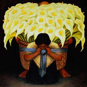 Diego Rivera - Flower Seller 1