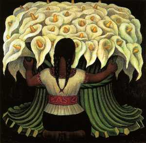 Diego Rivera - Flower Seller