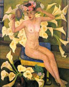 Diego Rivera - Nude with Flowers (Veiled..