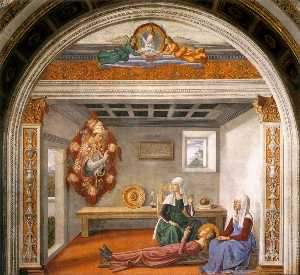 Domenico Ghirlandaio - Announcement of Death to St Fi..