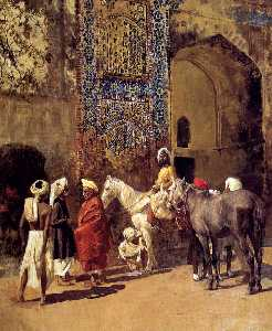 Edwin Lord Weeks - Blue-Tiled Mosque At Delh..