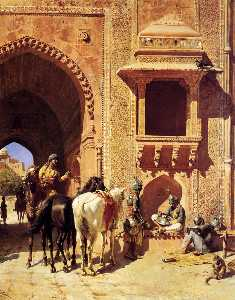 Edwin Lord Weeks - Gate of the Fortress at A..