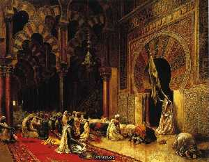 Edwin Lord Weeks - Interior of the Mosque at..