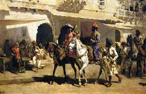 Edwin Lord Weeks - Leaving for the Hunt at G..