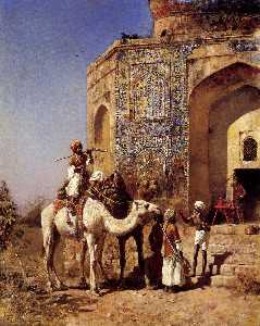Edwin Lord Weeks - Old Blue-Tiled Mosque, Ou..