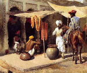 Edwin Lord Weeks - Outside an Indian Dye Hou..