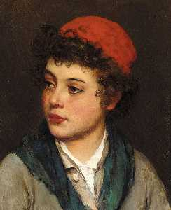 Eugene De Blaas - Portrait of a Boy