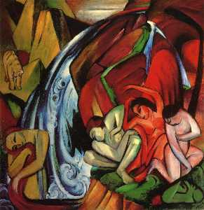 Franz Marc - The Waterfall