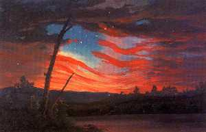 Frederic Edwin Church - Our Banner in the Sky