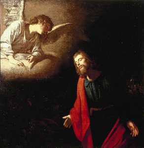 Gerard Van Honthorst (Gerrit Van Honthorst) - Christ in the Garden of Gethsemane (The Agony in the Garden)