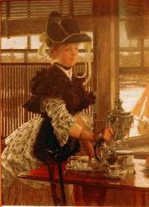 James Jacques Joseph Tissot - Afternoon Coffee
