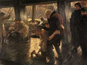 James Jacques Joseph Tissot - The Prodigal Son in Modern Life. The Return