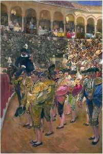 Joaquin Sorolla Y Bastida - Seville, the Bullfighters
