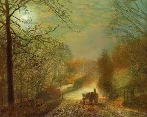 John Atkinson Grimshaw - Forge Valley, near Scarbo..