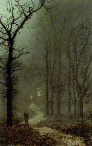 John Atkinson Grimshaw - Lovers in a wood