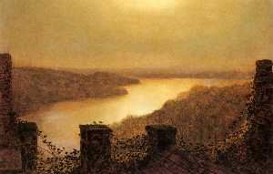 John Atkinson Grimshaw - Roundhay lake, From Castle