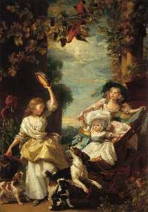 John Singleton Copley - The three youngest daught..