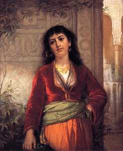 John William Waterhouse - The Unwelcome Companion (A Street Scene in Cairo)