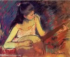 Mary Stevenson Cassatt - Girl with a Banjo