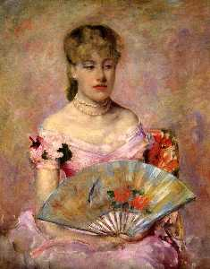 Mary Stevenson Cassatt - Lady with a Fan aka Portr..