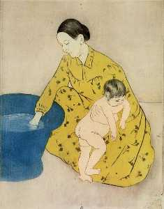 Mary Stevenson Cassatt - The Child-s Bath 2