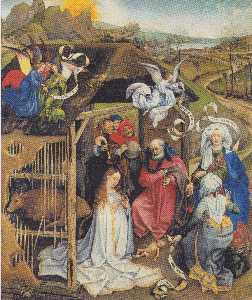 Robert Campin (Master Of Flemalle) - Adoration of the Shepherds