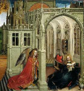 Robert Campin (Master Of Flemalle) - The Annunciation