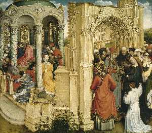 Robert Campin (Master Of Flemalle) - The Betrothal of the Virgin