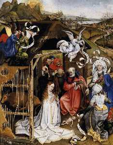 Robert Campin (Master Of Flemalle) - The Nativity
