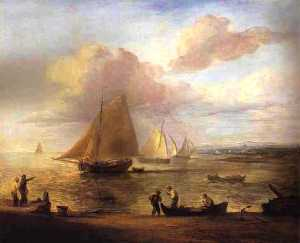 Thomas Gainsborough - Coastal Scene, a Calm