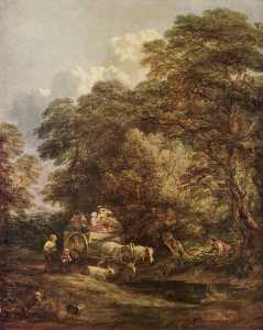 Thomas Gainsborough - The market cart