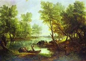Thomas Gainsborough - View of King-s Bromley-on-Trent, Staffordshire