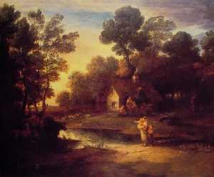 Thomas Gainsborough - Wooded Landscape with Cat..