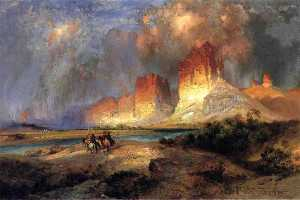 Thomas Moran - Cliffs of the Upper Colorado River
