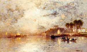 Thomas Moran - On the St. John-s River, Florida