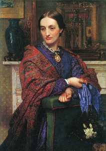 William Holman Hunt - Portrait of Fanny Holman ..