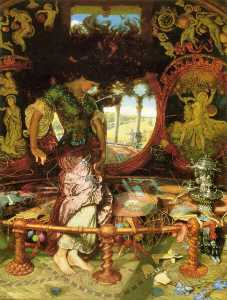 William Holman Hunt - The Lady of Shalott
