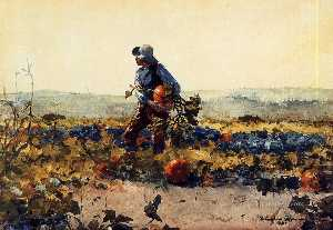 Winslow Homer - For the Farmer-s Boy (old English Song)