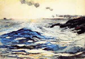 Winslow Homer - Sunset, Prout-s Neck