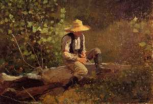Winslow Homer - The Whittling Boy