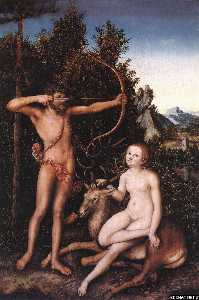 Lucas Cranach The Elder - Apollo and Diana in the W..