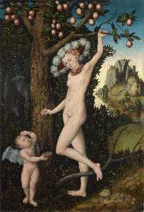 Lucas Cranach The Elder - Cupid complaining to Venu..