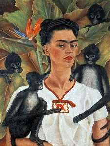 Frida Kahlo - Self-Portrait with Monkeys