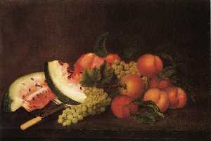 Rubens Peale - Still Life with Grapes, Waterm..