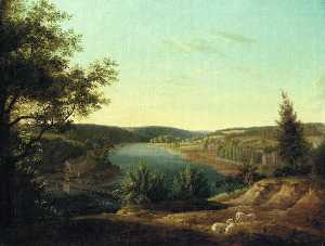 Thomas Birch - View of the Chain Bridge and F..