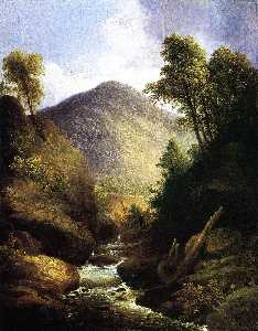Thomas Doughty - At the Waterfall